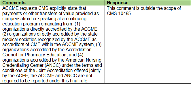 ACCME Comments