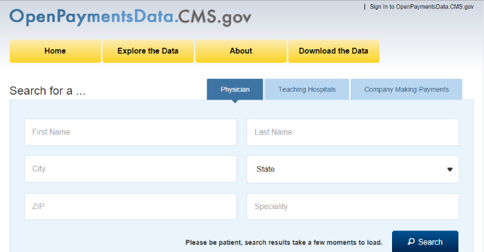 CMS search tool