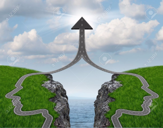 16831827-Bridge-the-gap-and-bridging-the-differences-between-two-business-partners-over-a-financial-cliff-to--Stock-Photo