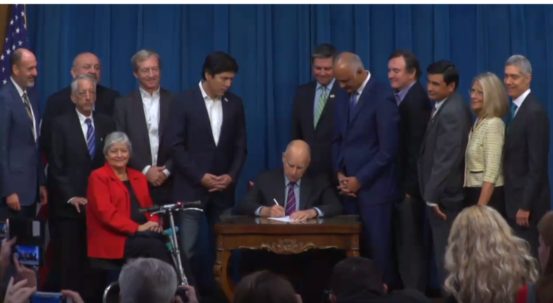 Jerry Brown Signing Prescription Price Bill